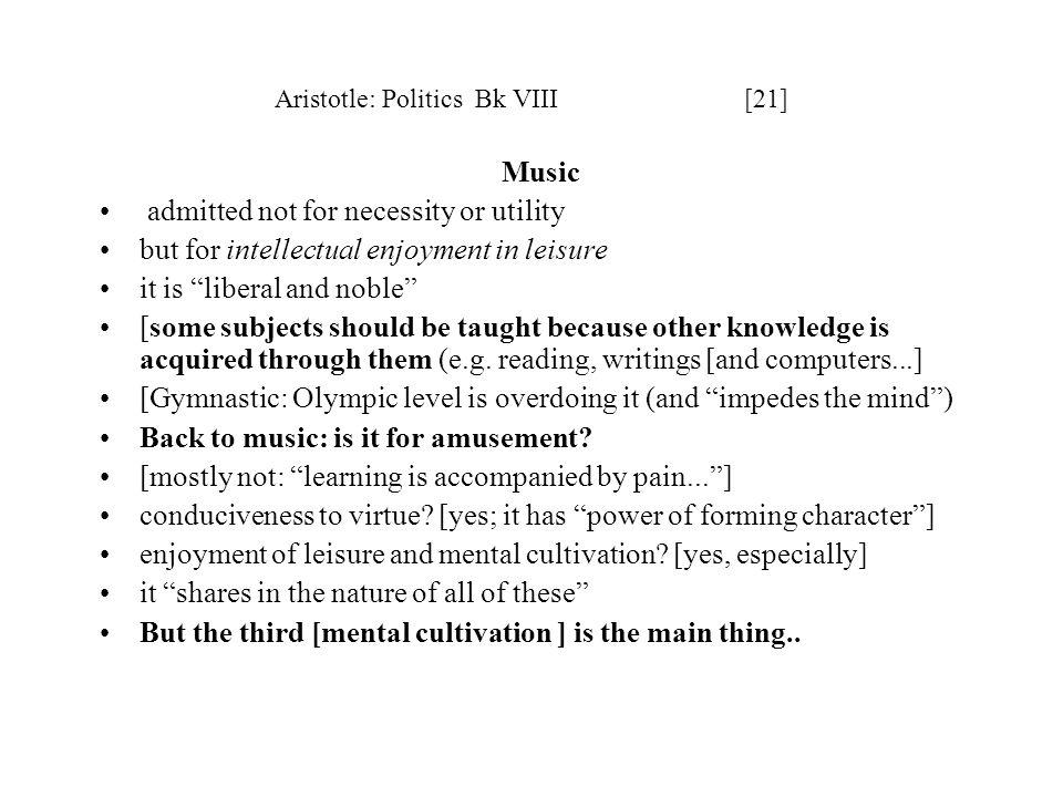 Aristotle: Politics Bk VIII [21]